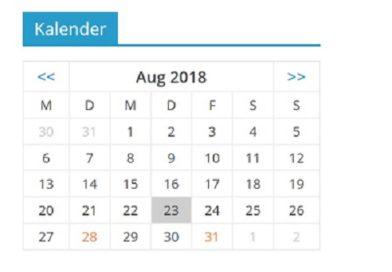 Neuer Terminkalender ist Online!